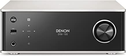 Denon DRA100SPE2Dra Series 100Design Receiver with Spotify Connect NAS, WiFi, USB, AUX In, Bluetooth, Airplay, 2x 70W Aluminium/Black