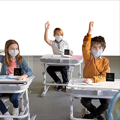 Portable Desk Shield Privacy Shields for Student Desks Best Sneeze Guard Protector Designed for Classroom and Office Plastic Desk Divider