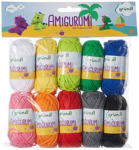 Gründl Amigurumi Kit I de Ganchillo, Algodón, Multicolor, 19.50x18x2.6 cm, 230