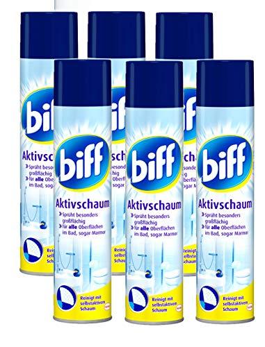 biff Aktivschaum Badreiniger 600ml - Reinigt mit selbstaktivem Schaum (6er Pack (6 x 600ml))