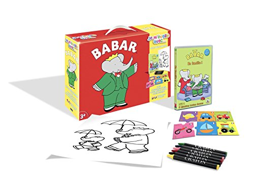 Babar-Je m'eveille avec.(DVD+Puzzle+6 Crayons Pastels+Poster)