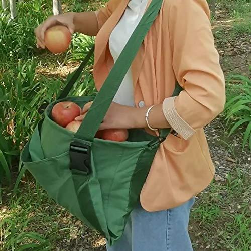 SSZZ Obstpflücker-Tasche, wasserdicht, langlebig, für den Garten, Schürze, strapazierfähig, verstellbar, Aufbewahrungstasche für Gemüse, L