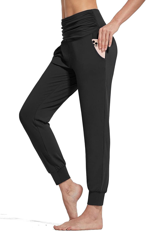 BALEAF High material Women's Lightweight Joggers High Work Harem Waisted Max 53% OFF Pants