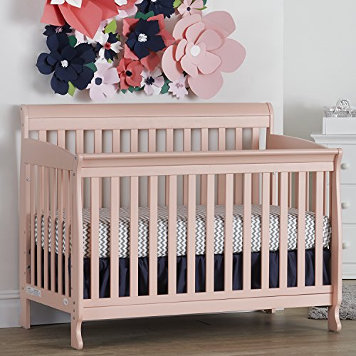 Suite Bebe Riley 4 in 1 Convertible Crib in Coral - Quick Ship