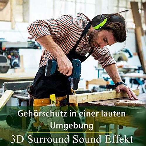 PROHEAR 033 Gehörschutz mit Bluetooth, FM/AM Radio Ohrenschützer, Eingebautem Mikrofon und Lärmreduzierung für Forst-, oder Landarbeit & lärmintensive Freizeitaktivitäten SNR30dB - 2