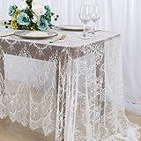 Mantel de encaje blanco para decoración de fiesta de boda, mantel oblongo de 156 x 300 cm, mantel...