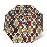 Ombrello Portatile Automatico Antivento, Ombrello Pieghevole Compatto, Folding Umbrella, Baldacchino Rinforzato, Impugnatura Ergonomica, Grande campionatore di tè alle erbe