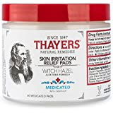 Thayers Medicated Skin Irritation Relief Witch Hazel Pads with Aloe Vera, 60 Pads