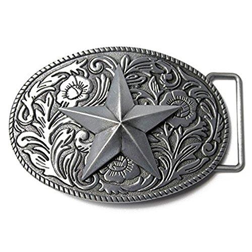 LKMY - Hebilla de cinturón - para hombre Plateado da star