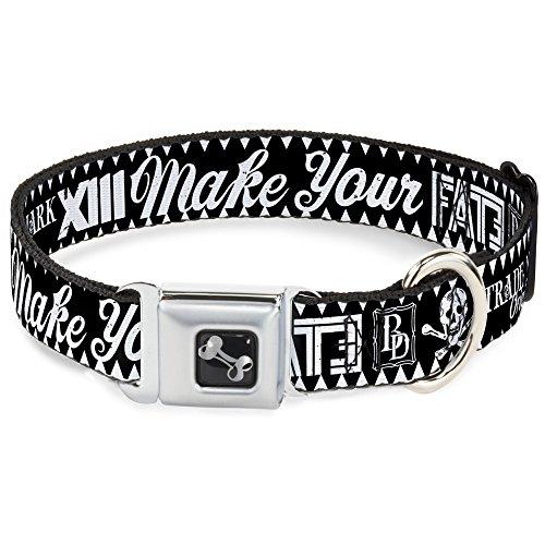 Buckle Down dc-w32849-s Sicherheitsgurt für Hunde, Größe S, englischsprachig, mit Fate, Schwarz/Weiß