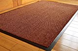 TrendMakers Barrier Mats Dirt Trapper Non Slip Hard Wearing Barrier Mat. PVC Edged Heavy Duty Kitchen Mat Rug Available in 15 Sizes (90cm x 150cm)-BEIGE w/Black Speckled