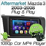 tunez 7 Pulgadas Doble DIN Android Car GPS MP4 MP3 USB Reproductor de navegación por satélite para Mazda 3 BK Mazda3 2003-2008 Unidad Principal de Radio estéreo Fascia ISO Kit