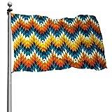 Bandera de impresión geométrica nativa americana del suroeste de Navajo, 4 x 6 pies, pancarta decorativa para exteriores, bandera estándar colgante exterior