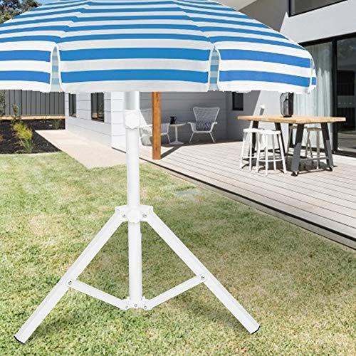 White Beach Umbrella Stand, Made of Iron Umbrella Sun Umbrella Beach Umbrella Patio Umbrella Base