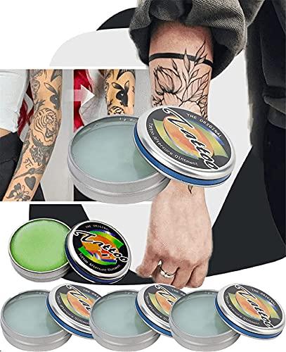 Abrillantador de Tatuajes para Tatuajes Antiguos, Crema Curativa para el Cuidado Posterior de Los Tatuajes, Bálsamo de Tratamiento para Iluminar Los Tatuajes, Mejora del Color del Tatuaje (5 piezas)
