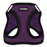 Voyager Step-in Air Dog Harness - All Weather Mesh, Step in Vest Harness for Small and Medium Dogs by Best Pet Supplies - Purple, Medium (Chest: 16' - 18')