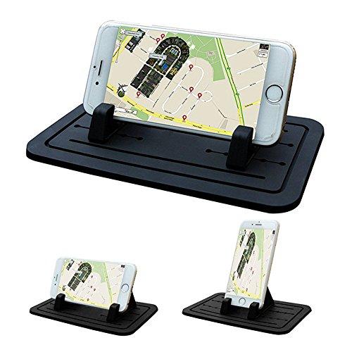 L&P A144 Handyhalterung Silikon Antirutschmatte Auto Handy Halterung Anti Rutsch Pad Halter Smartphone kompatibel mit Apple iPhone 6 6s 7 7Plus 8 8 Plus X Plus - Samsung Galaxy S7 S7+ S8 S8+ S10 S10+