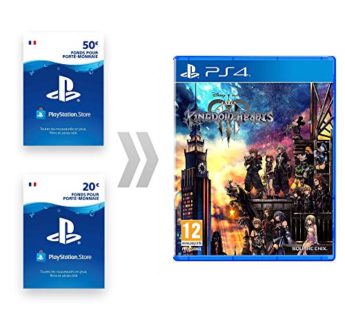 Carte PSN pour Kingdom Hearts III [PS4 Download Code - Compte français]