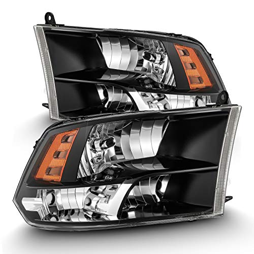 Modifystreet Polished Black 09-18 Ram 1500/10-18 Ram 2500/3500 Dual/Quad Crystal Headlights Left/Right Assembly
