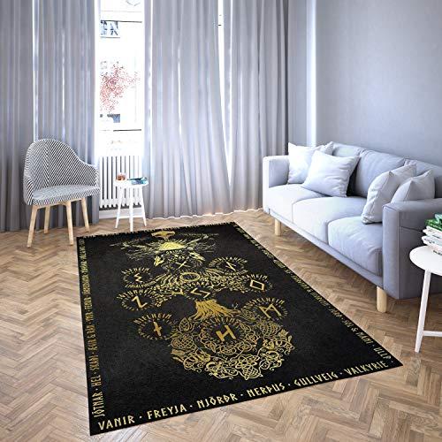 Norse Mythology Viking Carpet Living Room-Area Rug