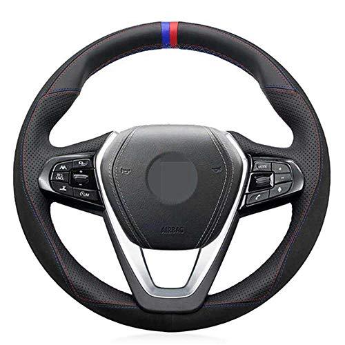 ZpovLE Cubierta de Volante de Coche DIY, Apto para BMW X3 G01 X4 G02 X5 G20 G21 G30 G31 G32 G05 X7 G07 Z4 G29
