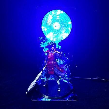 Ninja Veilleuse Créative Table Lampe Jouets Uchiha Madara Sharingan Ninjutsu Boule de Feu Akatsuki Ninja Éclairage Décoratif Cool Bureau pour Enfants Bébé Garçon Fille