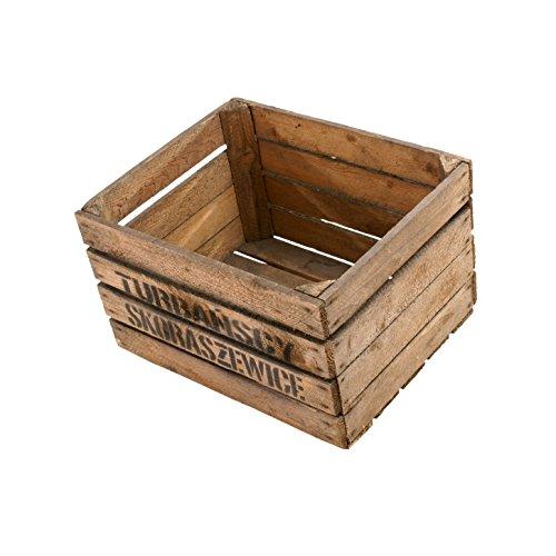 10-er Set Apfelkiste mit dekorativem Aufdruck/ Holzkiste/ Weinkiste/ Obstkiste