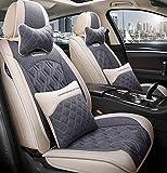 Car Seat cover set, cómodo piezas de automóvil, llenado de alforfón, transpirable y resistente al desgaste, conveniente para todas las estaciones,B