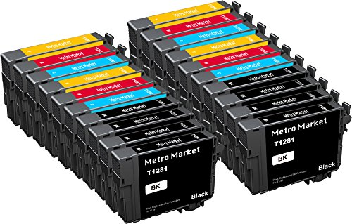 Metro Market 20 Stücke Kompatible Patronen T1285 (T1281 T1282 T1283 T1284) Tintenpatronen Hohe Kapazität für Epson S22 SX125 SX130 SX230 SX235W SX420W SX425W SX430W SX440W SX445W BX305F BX305FW