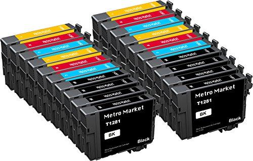 Metro Market 20 Pezzi per Epson T1281 T1282 T1283 T1284 T1285 Cartucce d'inchiostro Compatibile per Epson Stylus SX235W SX130 SX230 SX125 Epson Stylus Office BX305FW SX430W BX305FW SX420W