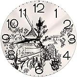 ALLdelete# Wall Clock Decoración de hogar de Reloj de Pared