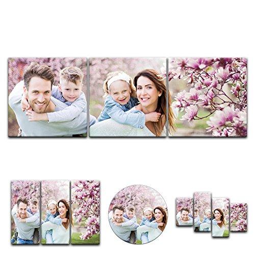 Leinwandbild - mit Ihrem Wunschmotiv - Panorama-Format - 90x30 cm / 30x90 cm 3 teilig - Mein Foto auf Leinwand - SOFORT VORSCHAU - Eigenes Bild - Dein Wunschmotiv aufgespannt auf Bilderrahmen