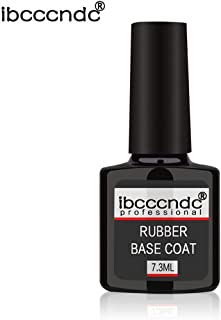 7.3ml Professional Rubber Base Coat Rubber Top Coat Soak-Off Gel Nail Polish