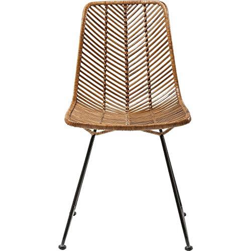 Stuhl Ko Lanta, moderner, bequemer Esszimmerstuhl im Rattan Design, braun (H/B/T) 85,7x44,5x54,6cm