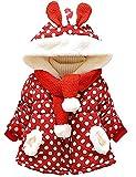 Little Hand Baby-Mädchen Jacke Dot Bedruckt Mantel Born Bekleidung,0-3 Jahre