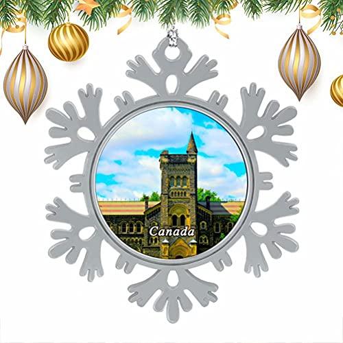 albero di natale ontario Canada Ontario Toronto Natale Albero di Natale Fiocchi di neve Ornamenti in metallo Ornamenti appesi Decorazione per la casa 3  × 3  pollici-Winter Wonderland Vacanze Capodanno Articoli per feste