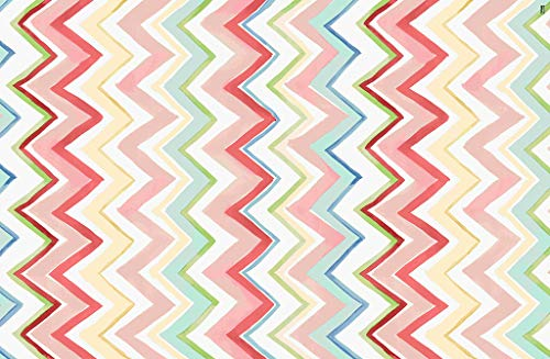 Vilber New Look Zig Zag Alfombra, Vinilo, Multicolor, 100x153x0.2cm