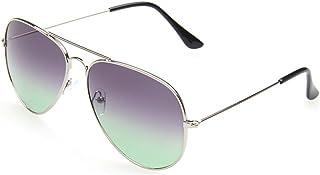 MissFox - Gafas de Sol Moda Vintage para Mujer y Hombre Lente Talla única UV400 Piloto Sunglasses