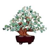 7 Inch Feng Shui Aventurine Quartz Gem Stone Money Tree Natural Green Crystal Art Decoration Office Living Room Good Luck