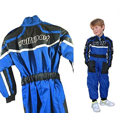 Wulfsport - Traje de carreras para niños, color azul MX Quad para niños Enduro Offroad Bike Wear (M (7-8 años)