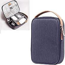 SHUHAN Computer Laptop Accessory Multi-function Headphone Charger Data Cable Storage Bag, Ultra Fiber Portable Power Pack, Size: L, 12x5x26cm (Grey) Laptop Shoulder Bags Case (Color : Blue)