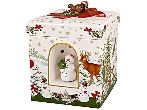 Villeroy & Boch Christmas Toys Geschenkpaket groß eckig, Weihnachtsbaum, weiß, 16x16x21,5cm
