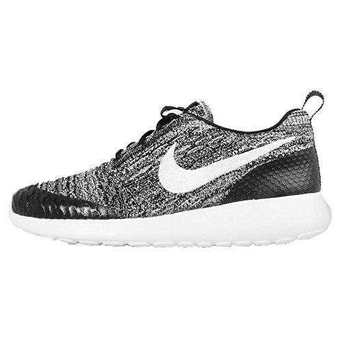 Nike Damen WMNS Roshe One Flyknit Turnschuhe, Schwarz (Schwarz/Weiß-Cool Grey), 36 1/2 EU