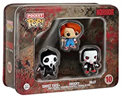 Pocket POP: Horror - Ghostface, Chucky, Billy Pop! We're not talking about soda here folks! Your favorite Characters the Funko Way!