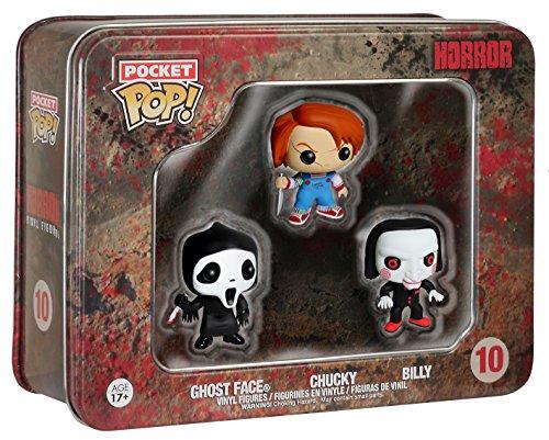 Funko Pocket POP: Horror - Ghostface, Chucky, Billy Toy Figure,Multicolor