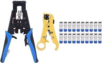 Abisolierer von PremiumX Werkzeug SET Zange Kompressionszange Aufdrehhilfe