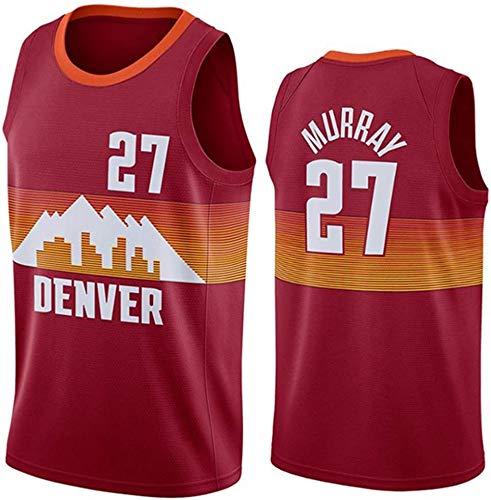 WSWZ Maglia da Basket NBA Uomo - Maglie di Jamal Murray NBA 27# Denver Nuggets - Unisex Comodo Maglietta con Canotta Sportiva da Basket,M(170~175CM/65~75KG)