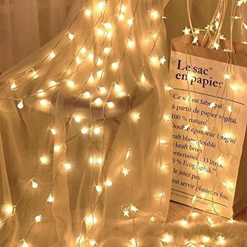 GNBHCP Luz de Navidad LED Cadena De Luz, Decoración De Navidad Linterna, Al Aire Libre Árbol De La Luz En La Pared Del Color Cambiante, Habitación Escena Decoración Luces Que Destellan (1,5 M, 3M, 6M,