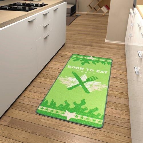Küchenläufer Born to eat in Grün Teppichgröße: Läufer 67 x 180 cm
