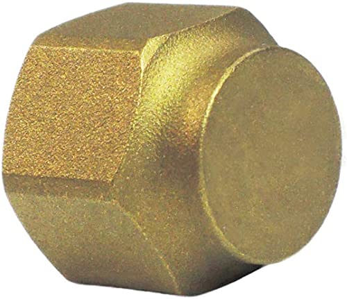 """Nigo Industrial Co. Brass Tube Fitting, SAE 45 Degree Flare Fitting, Flare Cap Nut (Nominal Pipe Size: 1/4"""")"""